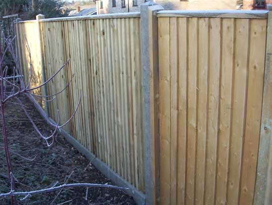 Concrete posted Fence
